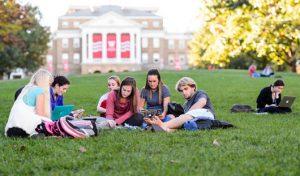 students on Bascom Hill