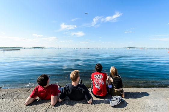 students near Lake Mendota